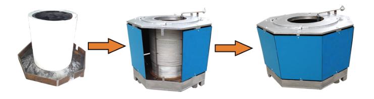 节能融化保护炉成品步骤